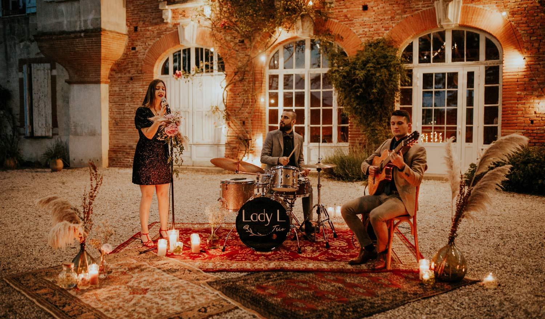 Lady L Trio, groupe de musique pour soirées privées à Toulouse
