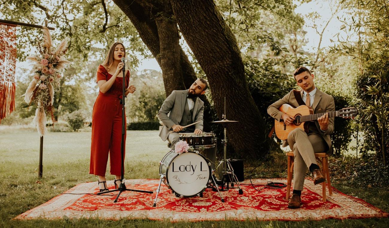 Lady L Trio, groupe de jazz pour cérémonies de mariage à Toulouse